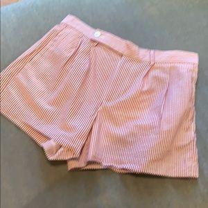 Pink striped short shorts